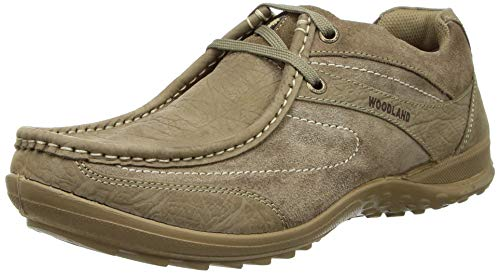 Woodland Men's Leather Sneaker-8 UK (OGC 3609119_Dubai Khaki)