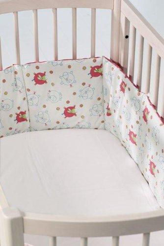 BabyDan Tour de lit (âne volant, rose)