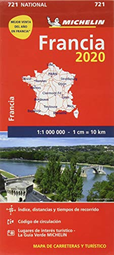 Mapa National Francia 2020 (Mapas National Michelin)