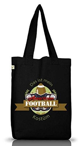 ShirtStreet American Football Kostüm für NFL Superbowl Fans, Größe: onesize,Black