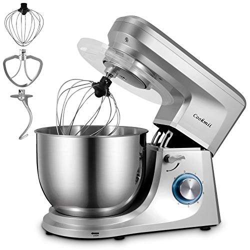 Cookmii Food Stand Mixer Dough Mixer Blender,Food Mixer 7.2 L Max 1800W 6 Speed met Planetary Mixing Action Cake Mixer met Beater, Haak, Whisk