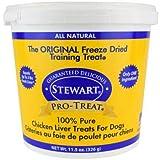 Stewart Pro-Treat, Freeze Dried Chicken Liver Dog Treats,...