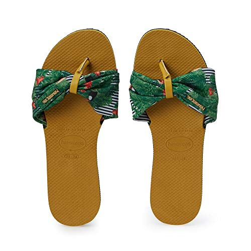 Havaianas You Saint Tropez Flip Flops Women Yellow/Green - 7.5/8 - Flip Flops Shoes
