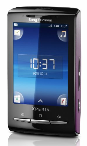 Sony Ericsson Xperia X10 mini Smartphone (6,6 cm (2,6 Zoll) Display, Android, WLAN, GPS, 5 MP Kamera) pink mit weißem Wechselcover