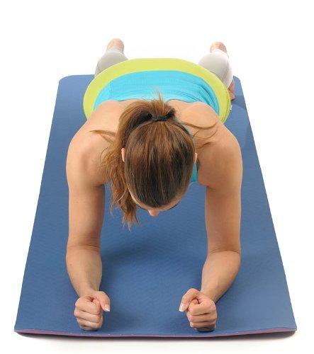 Yogamatte STUDIO extraleicht Gymnastikmatte Pilates Matte Blau Aubergine