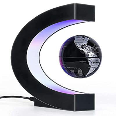 Magnetic Levitation Floating Globe with LED Light, Desk Gadget Decor, Fixture Floating Globes & Shade, Cool Tech Gifts for Men/Father/Husband/Boyfriend/Kids/Boss, Great gift idea from RTOSY