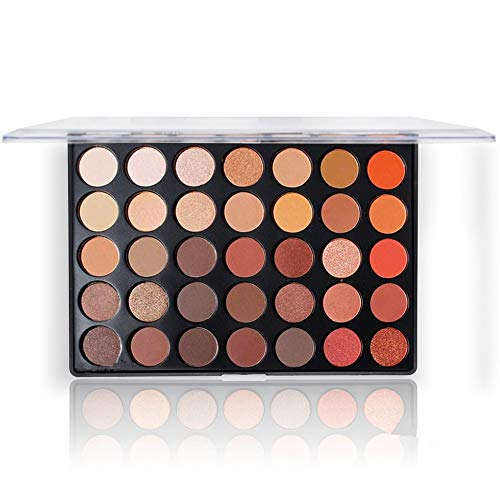 Beste Lidschatten Palette Nudetöne - Vegane Augenpalette - Eyeshadow Make Up Kosmetik - 35...