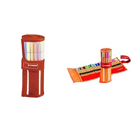 STABILO Pen 68 pennarelli colori assortiti - Rollerset da 30 & point 88 Penna Fineliner colori assortiti - Rollerset da 30