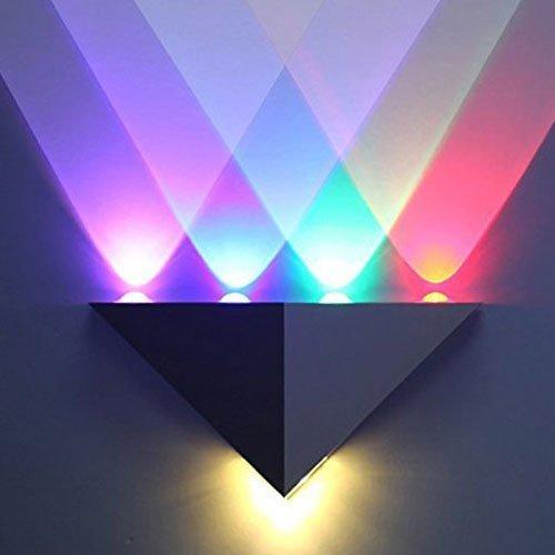 Applique murale à lumière LED 5 W Innori - Pour allée, chambre, hôte - Forme triangulaire - Superbe lumière décorative