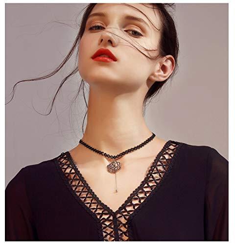 XIRENZHANG - Collar con cadena para mujer, estilo coreano
