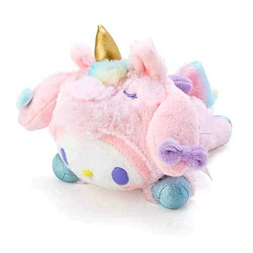 Animal de Peluche súper Suave, Lindo My Melody Cinnamoroll Pompompurin Kuromi Rainbow Unicorn Peluche de Peluche 7.9in / 20cm Rosa