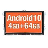 Vanku 9' Android 10 Autoradio de Coche Compatible para Golf 5 6 Touran Polo Radio con PX6, 4G + 64G/ GPS Navegador con Qualcomm Bluetooth 5.0, Soporte WiFi, Control del Volante, Dab+, SD/USB
