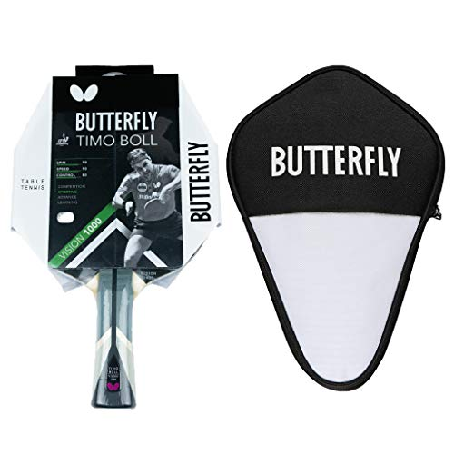 Butterfly Timo Boll Vision 1000 - Pala de ping pong y funda para cell, juego profesional