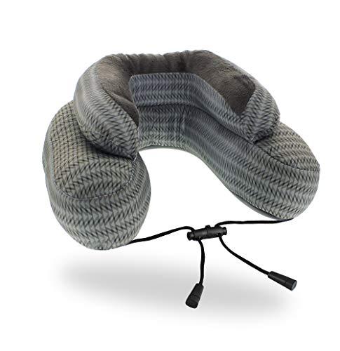 Almohada de Viaje Cabeau EVO Microbead - La Mejor Almohada de Viaje con microesferas - Soporte para Cabeza y Cuello 360 - Gray Arrow