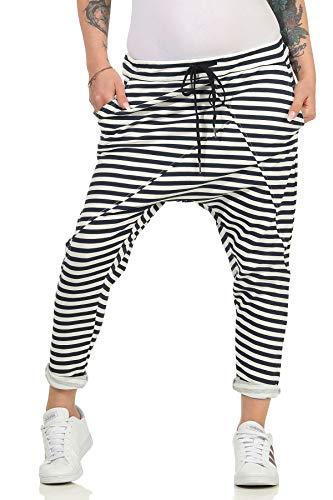 Damen Jogginhose im Boyfriend-Style Sweatpants für Freizeit Sport und Fitness 108 (36-40, Modell 2)