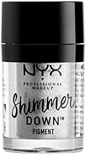 NYX PROFESSIONAL MAKEUP Shimmer Down Pigment, Platinum, 0.0519 Ounce