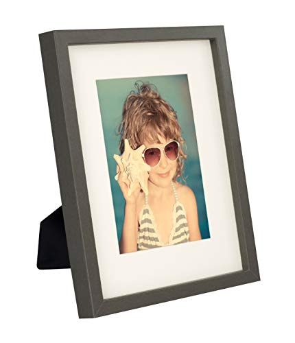 BD ART 20 x 25 cm Marco de Fotos con Paspartu 13 x 18 cm, Gris