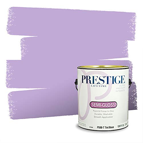 Prestige Paints Interior Paint and Primer In One, 1-Gallon, Semi-Gloss, Comparable Match of Behr* Purple Gladiola*