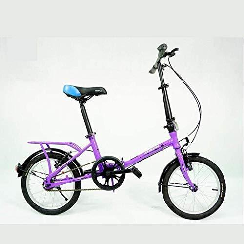 Pkfinrd 16 inch draagbare vouwfiets kind volwassen mannen en vrouwen studenten lichtgewicht vouwfiets vrije tijd fiets