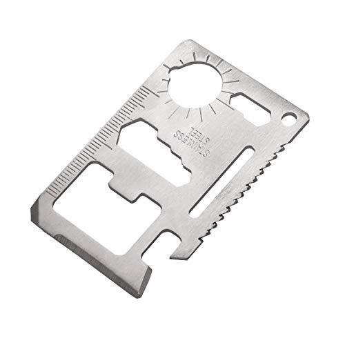 Teblacker Multitool Card Wallet Tools, acero inoxidable, multiherramienta, tamaño de tarjeta de crédito, herramienta de supervivencia, herramienta de bolsillo, gadget regalo con pinza para dinero
