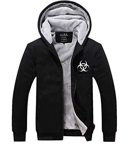 Wellgift Resident Evil Hoodie Umbrella Corporation Jacke Kapuzenpullover Hoody Kostüm Herren Damen Winter Dick Plus Samt Sweatshirt Zip Kleidung Cosplay