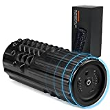 Lifepro Vibrating Foam Roller Massager - High Density Trigger Point Foam Roller for Flexibility, Pliability, Physical Therapy - Deep Tissue Foam Roller for Back Pain, Exercise, Post-Workout Recovery
