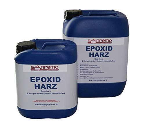 Resina base Sanremo EPOXID HARZ, 2 componentes, sin disolventes, 5,4 litros.