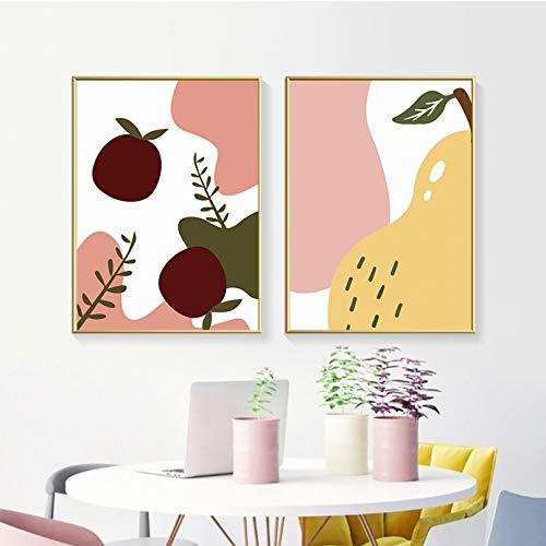Pintura en Lienzo Pinturas en Lienzo de Frutas abstractas póster de galería e impresión imágenes artísticas de Pared para Sala de Estar Cocina Interior decoración del hogar Mural