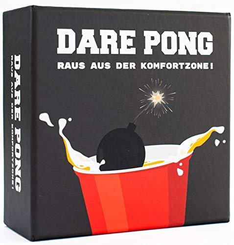Dare Pong® - Beer Pong trifft auf Wahrheit oder Pflicht. Trinkspiel Highlight 2021! Ideal für Partys, Vorglühen, Festivals oder als Geschenk