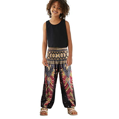 Niña Pantalones de Harén Deportivos de Yoga Elasticidad 3D para Niños Niñas Pantalones Largos Niños Niñas Unisex Suelto Pantalones de Linterna 0 a 24 Meses POLP Niño