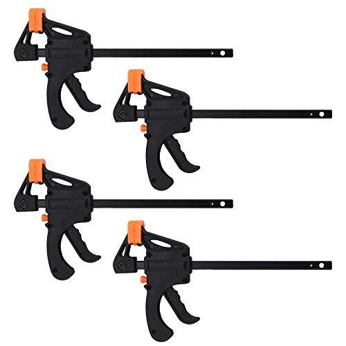 Pulluo 4 Piezas Abrazadera de Barra 19.5cm F-Bar Abrazadera Kit de Herramientas de Carpintería Madera