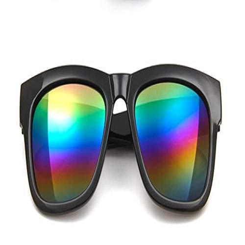 Moda Gafas De Sol Nuevo Negro Plata De Gran Tamaño Gafas De Sol Cuadradas Mujeres Recubrimiento Estilo De Verano Gafas De Sol Clásicas Mujer Big Squar Colors