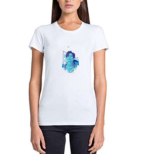 Kpop Mark Singer Got7_MRZ5604 - Camiseta para mujer, 100% algodón, para verano, regalo, casual mujer - blanco - Medium