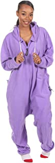Forever Lazy Adult Onesies with Detachable Feet for Men and Women | One-Piece Pajama Jumpsuits | Unisex