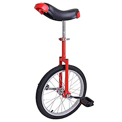 "Astonishing RED 18 Inch In Mountain Bike Wheel Frame 18"" Unicycle Cycling Bike With Comfortable Release Saddle Seat"