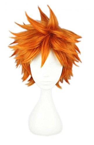 etruke Anime court orange Naruto Parti Halloween Cosplay Perruques