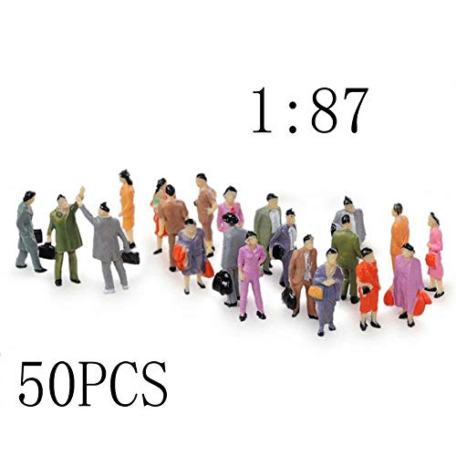 LACKINGONE 50pcs 1:87 Sabbia Table Modello Villain Painted Modello Train People Figures Scale