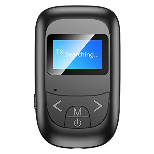 FAMKIT - Transmisor Bluetooth V5.0, transmisor y receptor Bluetooth, apto para teléfonos...