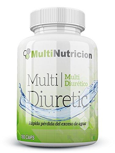 Multi Diuretico con vitamina B6 - Bruciatore di grassi - Diuretico - Antiossidante - Salute del sistema urinario | 100% naturale e vegetale | (180)