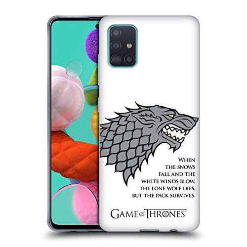 Head Case Designs Officially Licensed HBO Game of Thrones White Winds Graphics Soft Gel Case Compatible with Samsung Galaxy A51 (2019)