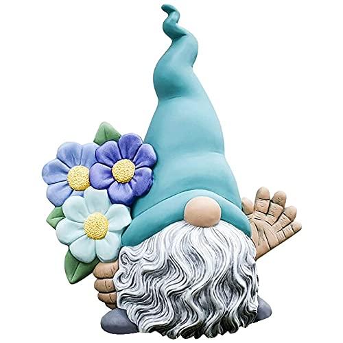 Moligh doll Garten Gnom Harz Statue, im Freien Dekor für Patio Deck Hof Garten Rasen Veranda, Willkommen Harz Gnom Figuren Dekorationen C
