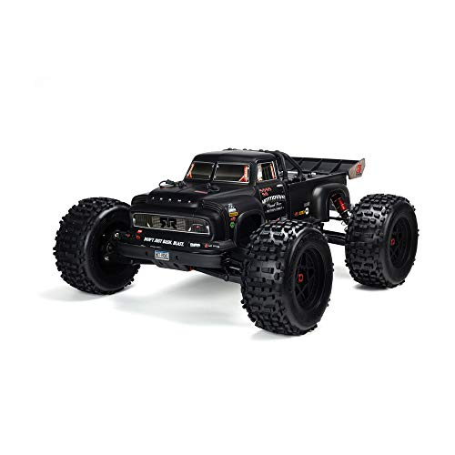 ARRMA 1/8 Painted Body, Black Real Steel: Notorious 6S BLX, ARAC3341