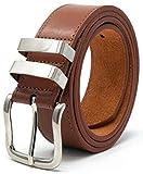 Ossi 38mm cinturón piel con refuerzo tan (tamaños 102cm - 112cm)