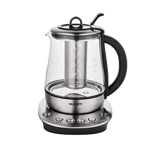 HUROMOEM TEA MASTER 2 in 1 Combined Electric Tea Maker and Water Kettle 220V for Various Tea BPA Free with SCHOTT Tempered Glass & Stainless Steel - 2 Liter Rapid heating mode Cordless Teapot automatic warming function with Handle triple insulation system,Auto memory system,Automatic Shut Off - the Best Hot Water Heater for Tea, Coffee, Soup, and More!
