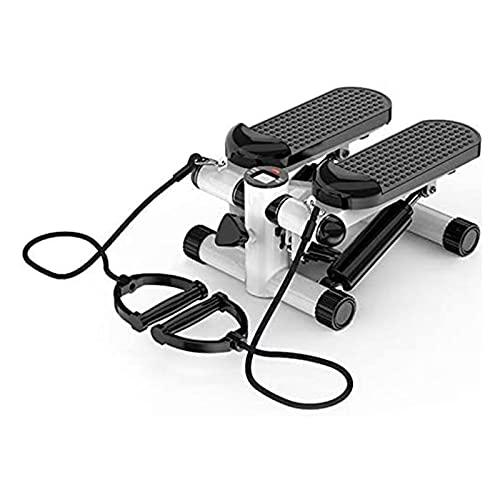 Afang Stepper Cardio Fitness Lateral, Multi-Función Paso Máquina Silencioso Paso Máquina Monitor Bandas Elásticas, Office Household Stepper Lateral