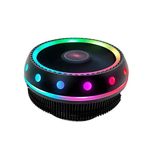 CONISY Disipador de CPU, Sistema Refrigeración de CPU con Ventilador Silencioso LED RGB para Procesador AMD e Intel (Colorido)