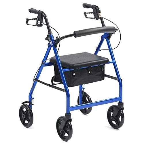 Medidu Premium Leicht Zimmer Gestell, Faltbarer Rollator Inklusive Tablett und Korb, Blau