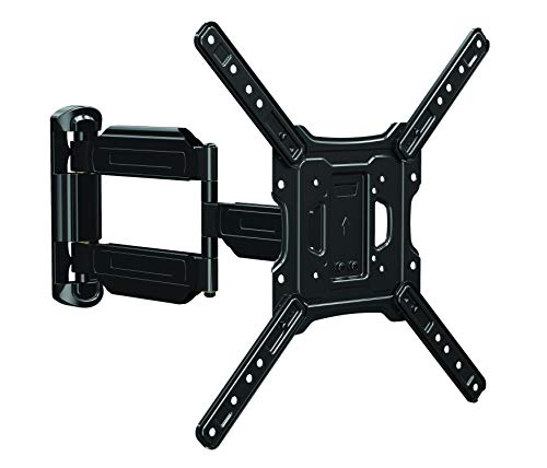 Atlantic Full Motion TV Mount – Flat Screen TVs from 32-47 inch, Height Adjustable Built in Spring gage, up to 77lbs, Heavy-Duty Steel Construction, Swivel +/-90, tilt +5/-15, Level +/-3 PN 63607279