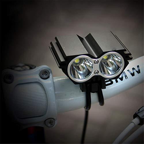 X2 Solarstorm impermeabiliza la luz de la Bici 5000LM 2 X T6 LED Delantera de la Bicicleta de los Faros de Doble Lámparas Led para el Ciclismo Bicicletas 18650 batería Light Grey