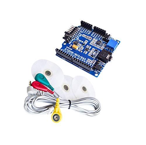 EKG/EKG/EMG-Abschirmung für Arduino mit Kabeln und Elektroden